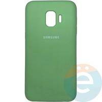 Накладка Silicone cover на Samsung Galaxy J2 core мятная 1