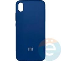 Накладка Silicone cover на Xiaomi Redmi 7A синяя 20
