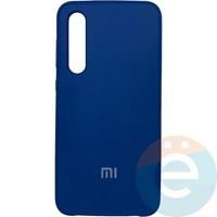 Накладка Silicone cover на Xiaomi Mi 9SE синяя 20