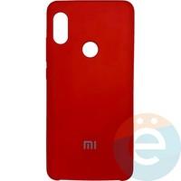 Накладка Silicone cover на Xiaomi Redmi Note 5 Pro красная 14