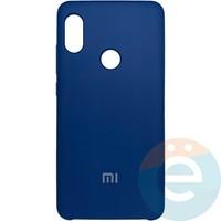 Накладка Silicone cover на Xiaomi Redmi Note 5 Pro синяя 20
