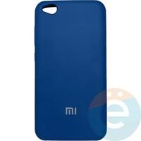 Накладка Silicone cover на Xiaomi Redmi Go синяя 20