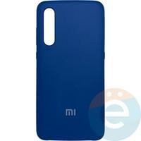 Накладка Silicone cover на Xiaomi Mi 9 синяя 20
