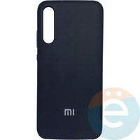 Накладка Silicone cover на Xiaomi Mi A3 чёрная 18