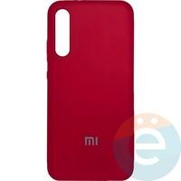 Накладка Silicone cover на Xiaomi Mi A3 бордовая 42