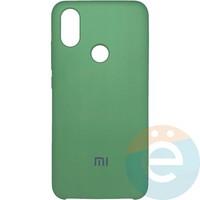 Накладка Silicone cover на Xiaomi Mi A2/6X мятная 1