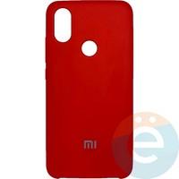 Накладка Silicone cover на Xiaomi Mi A2/6X красная 14