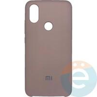 Накладка Silicone cover на Xiaomi Mi A2/6X пудровая 19