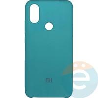 Накладка Silicone cover на Xiaomi Mi A2/6X бирюзовая 21