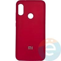 Накладка Silicone cover на Xiaomi Mi A2 lite/6 Pro пудровая 19