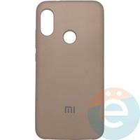Накладка Silicone cover на Xiaomi Mi A2 lite/6 Pro бордовая 42