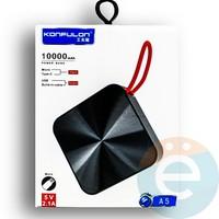 Внешний аккумулятор Konfulon A5 10000 mAh чёрный