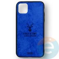 Накладка комбинированная джинсовая DEER для iPhone 11 Pro Max синяя