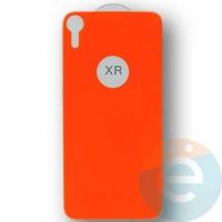 Защитное стекло 5D с полной проклейкой на Apple iPhone XR задняя часть оранжевое
