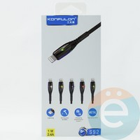USB кабель Konfulon S92 на Lightning красный