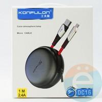 USB кабель Konfulon DC16 на Micro 1m чёрный