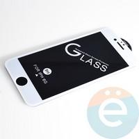 Защитное стекло 11D с полной проклейкой на Apple iPhone 6/6s белое