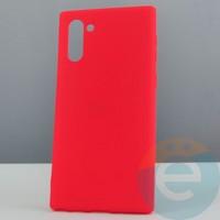 Накладка силиконовая Soft Touch ультра-тонкая на Samsung Note 10 красная