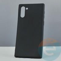 Накладка силиконовая Soft Touch ультра-тонкая на Samsung Note 10 чёрная