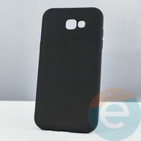 Накладка силиконовая Soft Touch ультра-тонкая на Samsung Galaxy A7 (2017) SM-A720 чёрная