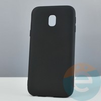 Накладка силиконовая Soft Touch ультра-тонкая на Samsung Galaxy J3 SM-J330 (2017) чёрная
