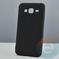 Накладка силиконовая Soft Touch ультра-тонкая на Samsung Galaxy J3 SM-J310 (2015) чёрная