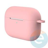 Чехол силиконовый для наушников Apple AirPods Pro с карабином Pink