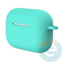 Чехол силиконовый для наушников Apple AirPods Pro с карабином Mint Green