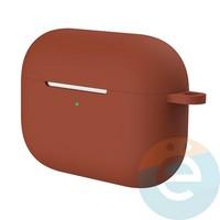 Чехол силиконовый для наушников Apple AirPods Pro с карабином Burgundy