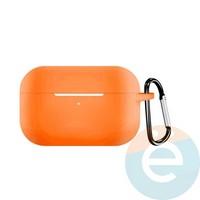 Чехол силиконовый для наушников Apple AirPods Pro с карабином Peach
