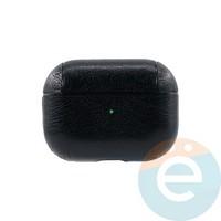 Чехол кожаный для наушников Apple AirPods Pro чёрный