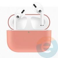 Чехол силиконовый для наушников Apple AirPods Pro ультра-тонкий Papaya