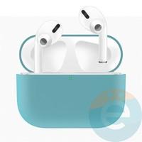 Чехол силиконовый для наушников Apple AirPods Pro ультра-тонкий Mint Green
