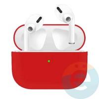 Чехол силиконовый для наушников Apple AirPods Pro ультра-тонкий Red