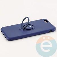 Накладка силиконовая iFace на Apple IPhone 7 Plus/8 Plus с металлической пластиной с кольцом синяя