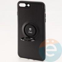 Накладка силиконовая iFace на Apple IPhone 7 Plus/8 Plus с металлической пластиной с   кольцом