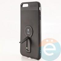 Накладка силиконовая iFace на Apple IPhone 7 Plus/8 Plus с металлической пластиной с подставкой