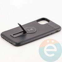 Накладка силиконовая iFace на Apple IPhone 11 с металлической пластиной с подставкой