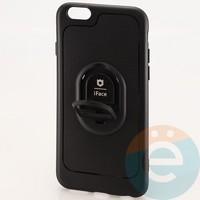 Накладка силиконовая iFace на Apple IPhone 6/6s с металлической пластиной рифлёная