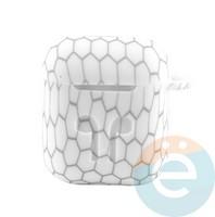 Чехол силиконовый для наушников Apple AirPods 1/2 Flowers design 1