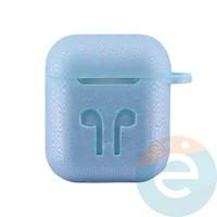 Чехол силиконовый для наушников Apple AirPods 1/2 Flowers design 13