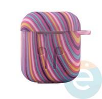 Чехол силиконовый для наушников Apple AirPods 1/2 Flowers design 17