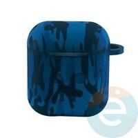 Чехол силиконовый для наушников Apple AirPods 1/2 Flowers design 37
