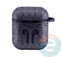 Чехол силиконовый для наушников Apple AirPods 1/2 Flowers design 42