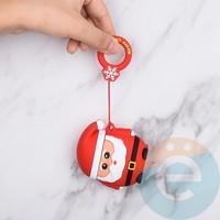Чехол силиконовый для наушников Apple AirPods 1/2 Merry Christmas Санта-Клаус