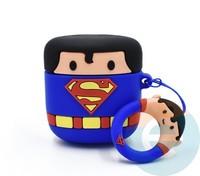 Чехол силиконовый для наушников Apple AirPods 1/2 Супермен