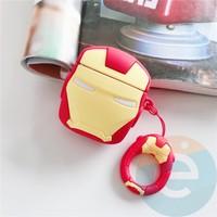 Чехол силиконовый для наушников Apple AirPods 1/2 Железный человек