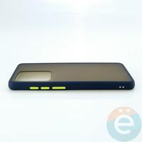 Накладка пластиковая матовая с силиконовой окантовкой для Samsung Galaxy S11 Plus синяя