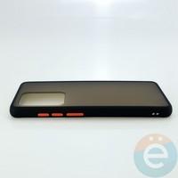 Накладка пластиковая матовая с силиконовой окантовкой для Samsung Galaxy S11 Plus чёрная