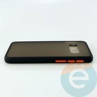 Накладка пластиковая матовая с силиконовой окантовкой для Samsung Galaxy S10E чёрная